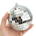 2-8inch Glitter Disco Mirror Ball Medium Club Glass Sphere Light Party Supply