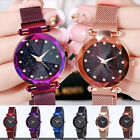Luxury Starry Sky Masonry Watch Magnet Strap Buckle Stainless Watch Women Gift  image