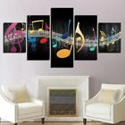Musical Notes Music 5 panel canvas Wall Art Home Decor Poster Picture