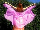 25 yard long Chiffon Veil for Belly Dance show practice New 12 colors