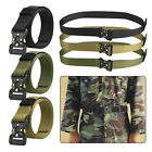 Adjustable Men's Military Belt Buckle Combat Waistband Tactical Rescue Rigger US
