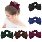 Women Girl Elastic Bow Scrunchies Bow Hair Tie Ring Rope Band Ponytail Holders