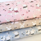 Petit Baby bears 100% cotton fabric pink, blue or beige 58 inches wide per 1/2 M