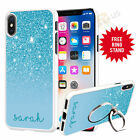 Personalised Phone Case Cover & Finger Ring Stand Holder For Top Mobiles 073-6