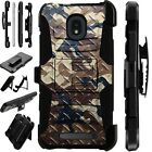 LUXGUARD For Onyx / Feller / Miro Phone Case Holster Cover CAMO CROSSHATCH BROWN