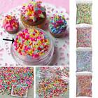 100g DIY Polymer Clay Fake Candy Sweet Sugar Sprinkles Decoration for Phone US image