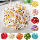 36 pcs 3 bundle Daisy mini paper flower scrapbook wrapping decor DIY card craft