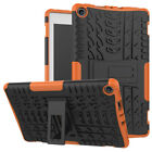 For Amazon Kindle Plastic Fire HD 8 2017/2018 Hybrid Rubber Stand Case Cover