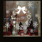 Merry Christmas Gift Wreath Wall Window Stickers Decals Xmas Party Home Decor M-
