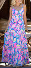 NWT LILLY PULITZER MELODY MAXI PINK SUNSET SUNNY SIDE 2,10 GRAIL GORGEOUS!!