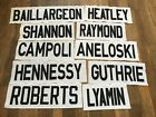 Ottawa Senators Game Used Jersey Nameplates White Karlsson Alfredsson C NHL