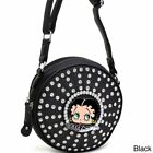 Betty Boop Rhinestone and Studded Cylinder Messenger Bag $34.19 USD on eBay