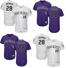 Men's #28 Nolan Arenado Colorado Rockies Flex Base Player Jersey Pick Size on Ebay