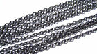 Chain Fine Cable Oval 2mm links Gunmetal Jewelry Making Craft 5, 15, 25, 50 feet
