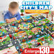 Children Toy Map Play Mat Buildings Parking Game Scene Creative Toys 130*100cm