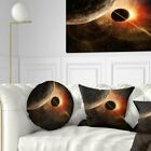 Designart 'Planet with Rings' Contemporary Throw Pillow