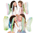 FAIRY WINGS MULTIPLE COLOURS, PRETTY VOILE BUTTERFLY WINGS CHILDRENS FANCY DRESS