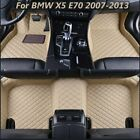Front&Rear Auto Floor Leather Liner Waterproof Mat Fits For BMW X5 E70 2007-2013