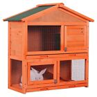 "Merax 32""/48""/70"" Rabbit Hutch Indoor Outdoor Bunny Pet Hutches with Run"