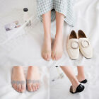 Summer Invisible Socks Floral Lace Hollow Silicone Cotton Non-slip Boat Socks