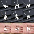 Fashion Animal Dog Cute Women's Silver Crystal Pendant Necklace Chain Jewelry