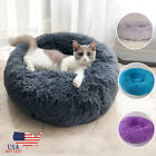 USA Small Pet Dog Cat Bed Puppy House Round Cave Soft Warm Kennel  5 Colors New