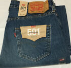 NWT MENS LEVI'S 501 -2487 ORIGINAL BUTTON FLY STRAIGHT BLUE JEANS PANT $70