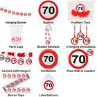 70TH BIRTHDAY TRAFFIC SIGNS THEME - COMPLETE PARTYWARE COLLECTION
