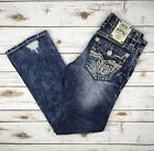 Men Rock Revival Jeans Low Rise Distressed Scion Slim Bootcut 29 30 31 32 33 34 on eBay