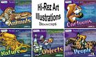 Royalty Free High Resolution Illustrations PC Windows XP Vista 7 8 10 MAC Sealed