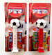 Pez  2014 Swiss SOCCER (Football) set with Printed stems On CARDS- $3.99 US Ship