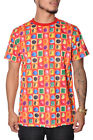 Candy Crush T-Shirt Men's Short Sleeve Top by Imperious Red Orange