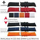 Dimple-Texture Silicone Rubber Watch Strap With Curved Or Straight Ends 22-24mm
