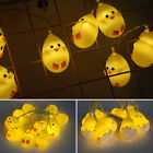 Led Lights Warm White Easter Eggs Chicken String Fair Light Lamp Party Decor