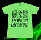 New MTV  Logos Neon Green Mens Vintage Classic T-Shirt image