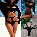 Women One Piece Bandage Monokini Bikini Set Push Up Mesh Swimwear Bathing Suit $4.18 USD on eBay