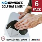 No Sweat Golf Hat Liner Sweat Absorber Prevent STAINS Dripping Sweat 6 Pack