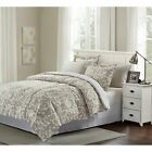 Brown & Grey Camille 8-piece Bed-In-Bag Set