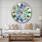 Designart 'Pastel Foral Composition II' Cabin & Lodge Large Wall CLock