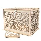 Wedding Money Wooden Box with Lock Key Card Box With Card Sign Birthday Party DI