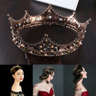 Retro Baroque Beaded Queen Tiara Crown Wedding Headdress Headband Decor Sanwood