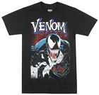 MARVEL VENOM COMIC T-SHIRT BLACK SUPER VILLIAN MOVIE TEE MENS ADULT TOP image