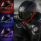 Motorcycle Helmet Night Riding LED Light Signal Flashing Stripe Sticker 3 Modes