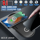 Wireless Qi Dual Charging Dock Station QC 3.0 Charger For iPhone XS For Samsung
