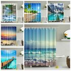 Waterproof Bathroom Shower Curtain Fabric Landscape Tree Animal Print Home Decor