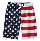 NWT AMERICAN FLAG USA Patriotic Beach Swim Suit Surf Board Shorts size L or XL
