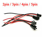 2pin 3pin 4pin 5pin Male And Female 22AWG LED Strip Wire JST SM Plug Connector