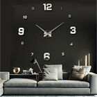Large 3D Wall Clock DIY Frameless Arabic Numeral Hanging Clock Home Office Decor