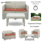 3 Type,outdoor Patio Garden Furniture Sofa Set - Cushions-love Seat Coffee Table