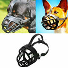Adjustable Pet Dog No Bite Silicone Basket Muzzle Cage Mouth Mesh Cover 6 Sizes